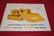 Allis Chalmers HD-11G HD-11GC Crawler Tractor Dealer's Brochure YABE14 ver30