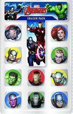10 Avengers Novelty Eraser School Party Bag Filler Boy Rubber Children Fun Gift