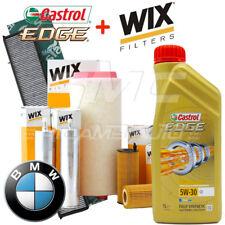 Kit tagliando olio CASTROL EDGE 5W30 8LT +4 FILTRI WIX BMW 525/530D E60