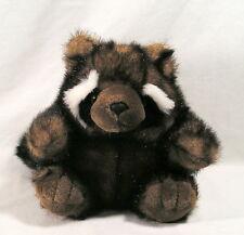 "Stuffed Animal 9.5"" Tip Dyed Mink Faux Fur Raccoon Plush by Mary Meyer Plush"