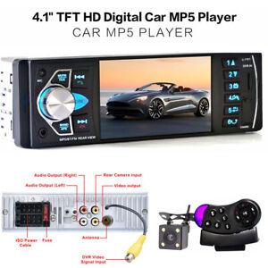 "4.1"" HD Digital Car Stereo Radio MP3 MP5 Audio Player FM Bluetooth USB/TF AUX"