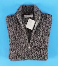 $2650 NWT - BRUNELLO CUCINELLI 100% CASHMERE *THICK* 1/2 Zip Sweater - 46 S