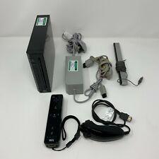 Nintendo Wii RVL-001 Console (Black) - PAT Tested + Nunchuck + Controller