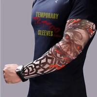 8 PCS Nylon Fake Temporary Tattoo Sleeve Arm Stockings Tatoo For Men Women USA