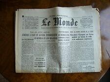 Journal de naissance Le Monde de 1945 à 1993, rare, cadeau Noël, anniversaire