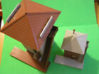 TWO (2) HO YARD SWITCHING TOWERS -- 1 SMALL and 1 LARGE - ASSEMBLED - COMB SHIP