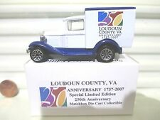 Matchbox MB38 2007 Loudoun County VA 250 Year Anniversary Model A Ford Van NuBxd
