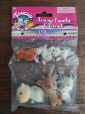 New Sealed Teacup Family and Friends 6 piece adorable animals set 1 Collection