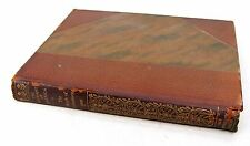 Antique 1927 Leather Book -Transportation Railroad Trains Locomotives Photos