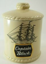 Captain Black Pipe Tobacco Special Edition 12 Oz. Ceramic Humidor/Canister EUC
