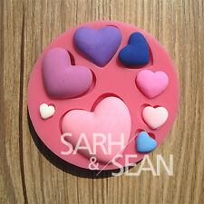 M0120 heart love silicone fondant cake molds soap chocolate mould