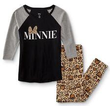 NEW Minnie Mouse Pajamas Womens Plus Size 3X Disney Leopard Print Mickey 2X NWT
