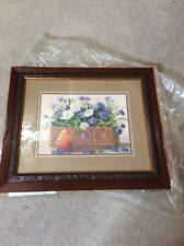 Home Interior / Homco Picture Flowers In A Box And A Pear New In Box
