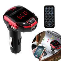 Bluetooth Wireless LCD FM Transmitter Modulator USB Car Kit MP3 Player SD Remote
