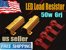 2x50W 6ohm Load Resistor Fix LED Bulb Fast Hyper Flash Error Turn Signal Blinker
