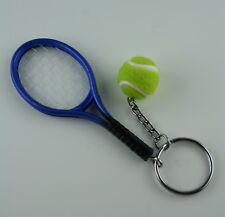Tennisschläger Schlüsselanhänger mit Tennisball  Tennis