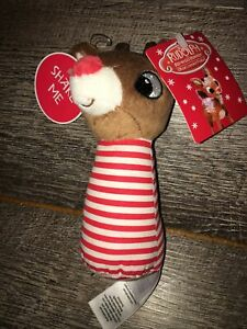 Reindeer Rudolph the Red Nosed Reindeer Plush Rattle Christmas Baby Child toy