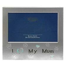 I Love My Mum 5x3 picture photo Frame silver plated gift present mummy present