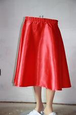 """New Red Satin 50's, Rockabilly SKIRT Size M W30""""-36"""" L25"""""""