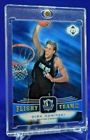 DIRK NOWITZKI FLIGHT TEAM BLUE HOLO FOIL RARE SP DALLAS MAVERICKS FUTURE HOF!