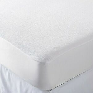 Extra Deep Microfiber Waterproof Terry Towel Mattress Bed Fitted Sheet Protector