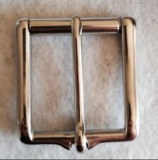 "1-3/4"" Chrome Brass Belt Buckle With Roller"
