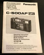 Original Panasonic C-500AF DX cámara manual de instrucciones