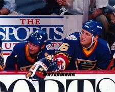 NHL Wayne Gretzky Brett Hull St.Louis Blues Color 8 X 10 Photo