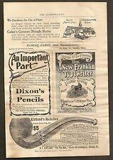 VINTAGE AD FROM THE COSMOPOLITAN MAGAZINE - DIXON'S PENCILS & MORE