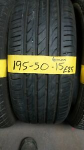 195 50 15 tyres PART WORN 6MM FITTED AND BALANCED