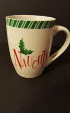 Lenox 'Naughty' Christmas Holiday Coco Coffee Tea Mug Cup
