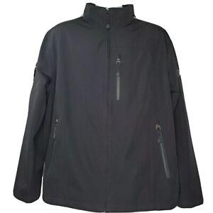 TUMI T-Tech Waterproof Jacket Black Size XL Packable Hood