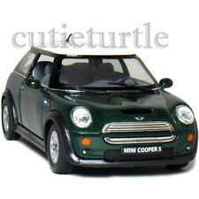 Kinsmart Mini Cooper S 1:28 Diecast Toy Car Green