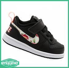 Scarpe Nike bambina Court borough sneakers nera in pelle per tempo libero sport