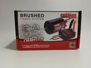 550 10T 12T Brushed Motor And 80A ESC Combo Set for RC Crawler Axial SCX10 TRX4