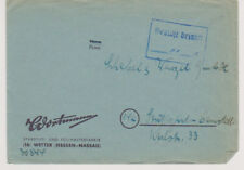 NACH 45, Gebühr bezahlt / Barfreimachung,  Wetter/Hessen-Nassau, ohne Datum
