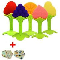 5Pcs Baby Teething Toys Silicone Teether Toys Set with 2Pcs Bandana Drool Bibs