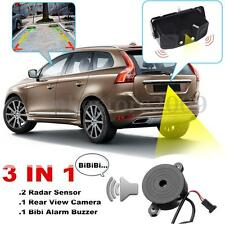 3 In1 170° Reverse Backup HD LED Rear View Camera 2 Parking Radar Sensor Buzzer