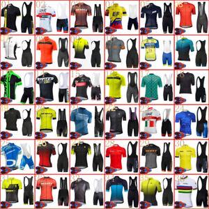 Men 2021 Cycling Jersey Short Sleeve Bike Shirt Bib Shorts Sets Bicycle Outfits