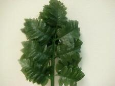 "24 Sprays GREEN Leather Fern Artificial Silk Leaves 15"" Stem 546GR"