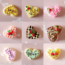5pcs Heart Shape & Strawberry Cake Resin Miniature/Craft/Doll/House/Cute/Clay