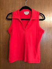 Marlboro Classics ~ Women's Sleeveless RED V Neck Stretchy Top, size Medium~SEXY