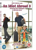 AN IDIOT ABROAD 3 KARL PILKINGTON WARWICK DAVIS RICKY GERVAIS SKY UK DVD NEW