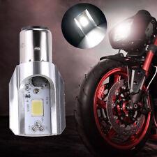 White Headlight Bulb LED Motorcycle 1x H6 BA20D DC 6V-80V 12W COB Beam