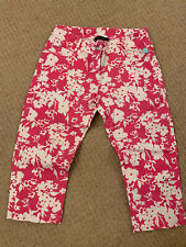 New Miss Blumarine Cropped Trousers 14 Yrs Old Pink And White