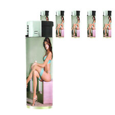 California Pin Up Girl D9 Lighters Set of 5 Electronic Refillable Butane