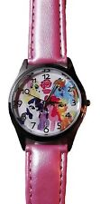 My Little Pony Friendship Is Magic Pink Leather Band Wrist Watch
