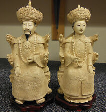 Chinese Resin Hand Carved Figurine Statue Emperor & Empress ☆ Highly Detailed ☆