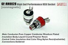 2PCS GAOFEI GF-RH0028 Rhodium plated Swiss Copper RCA Socket  Phono Female