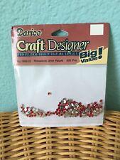 Darice red rhinestones 3mm round 200 pieces / crafting / nail art / art supplies